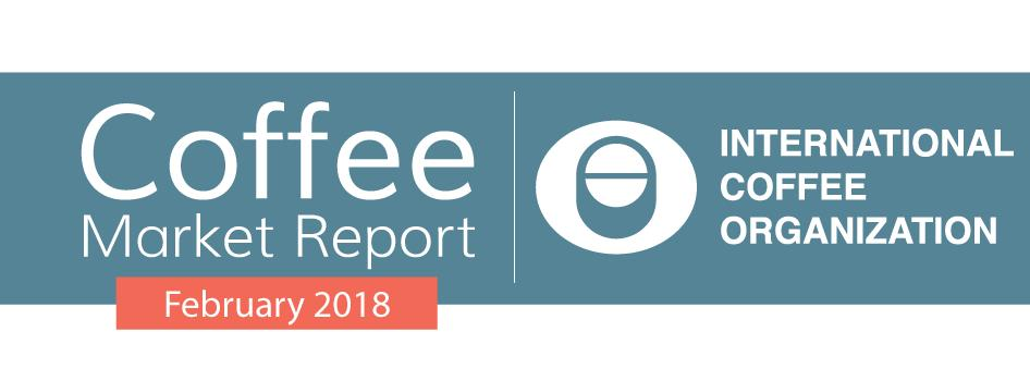 Coffee market settles lower amidst strong global exports The ICO composite indicator price declined by 1.2% in February 2018 to an average of 114.19 US cents/lb.