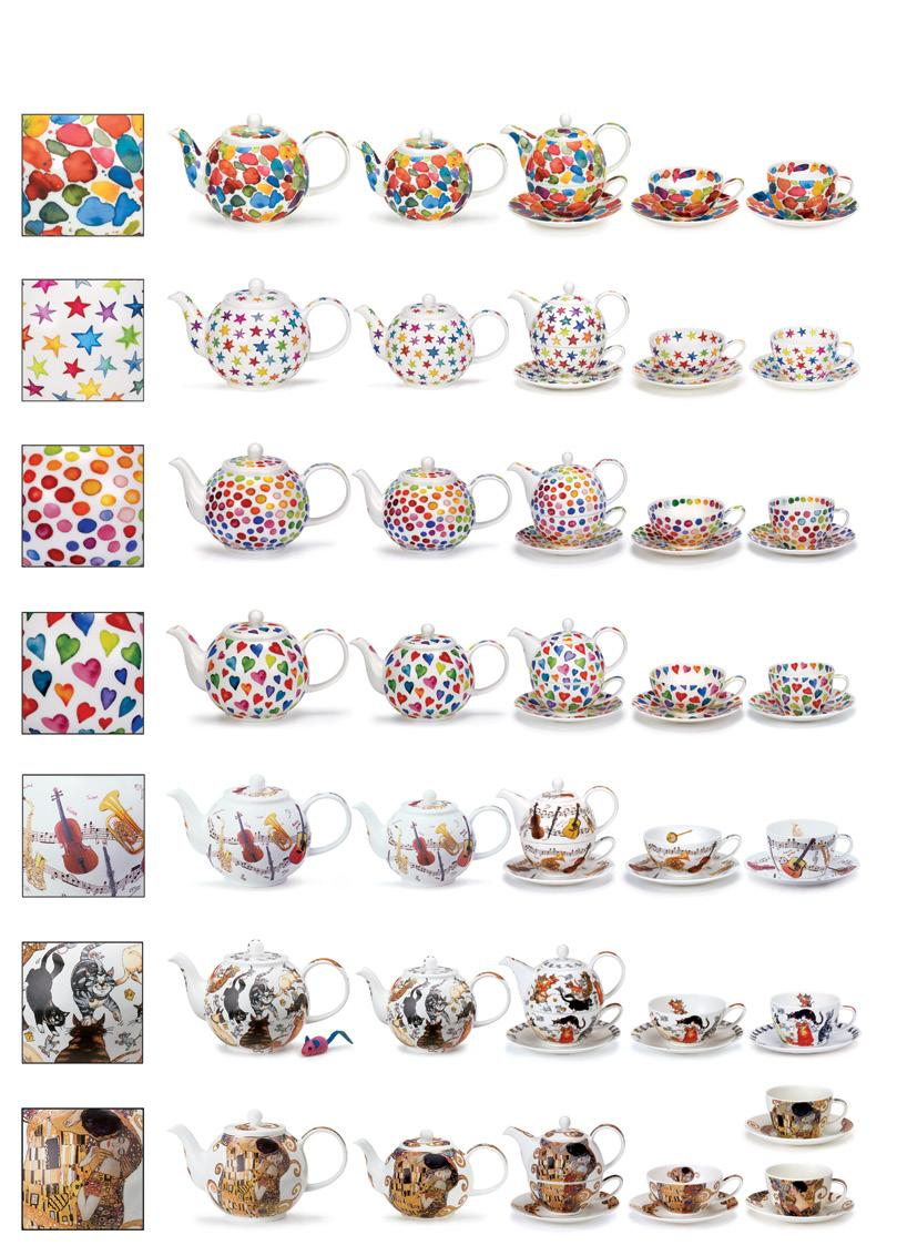 TEAPOTS, BREAKFAST CUPS & SAUCERS AND TEACUPS & SAUCERS Blobs!