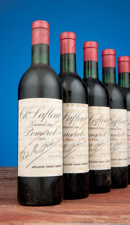 Château Lafite Rothschild 1966 Four top shoulder level; all labels damp stained, one also slightly torn; three capsules torn...lovely flavour, lean, good length. A jolly good drink...most recently.