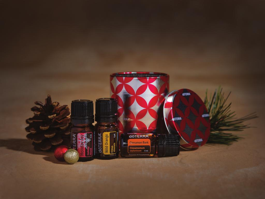 50 wholesale 25 PV Capture the magic of the holidays by combining the inviting scents of Holiday Joy, Cinnamon and Wild Orange essential oils.