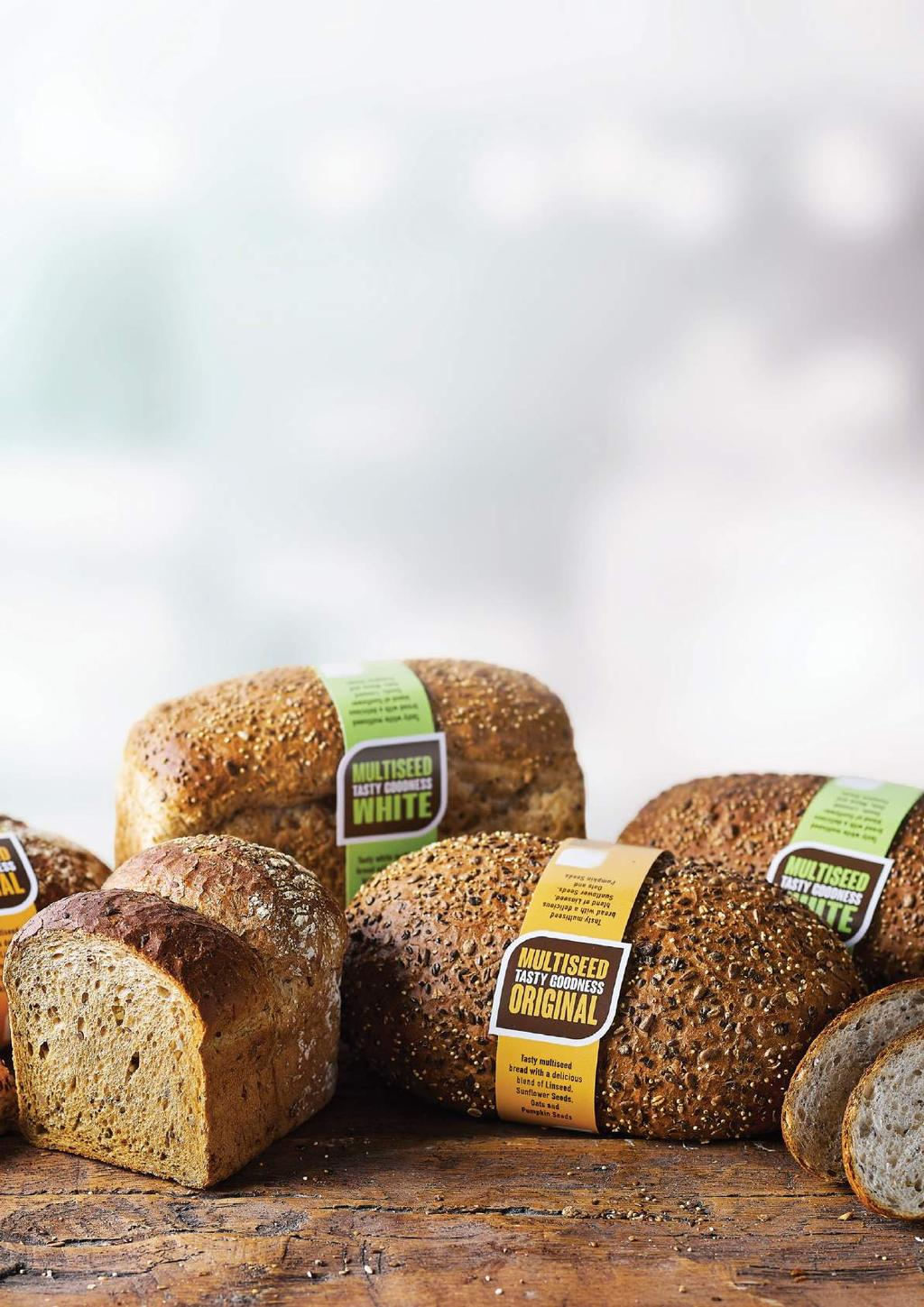 Tasty multiseed bread with a delicious combination of sunflower seeds, linseed, pumpkin seeds and oats.