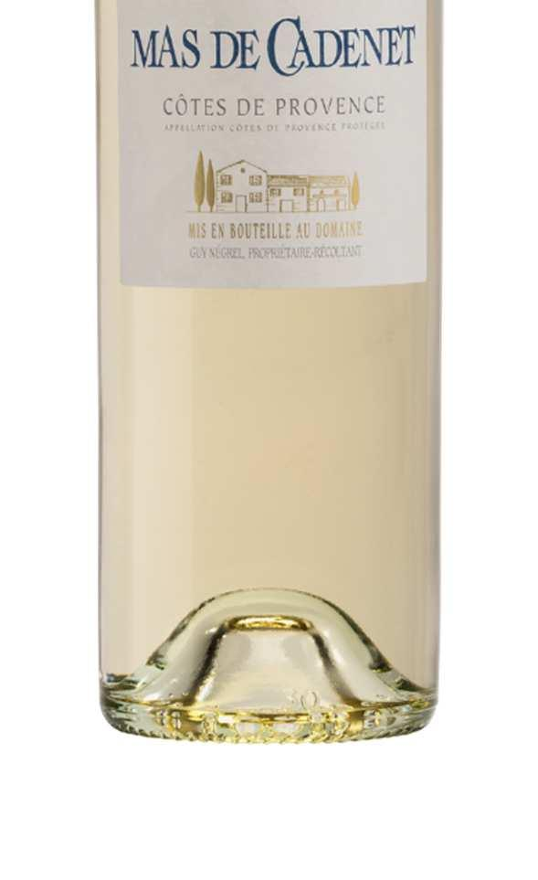 MAS DE CADENET WHITE The Mas de Cadenet cuvée is the Domaine s main production. It expresses best the exceptional terroir of the Sainte Victoire Appellation.