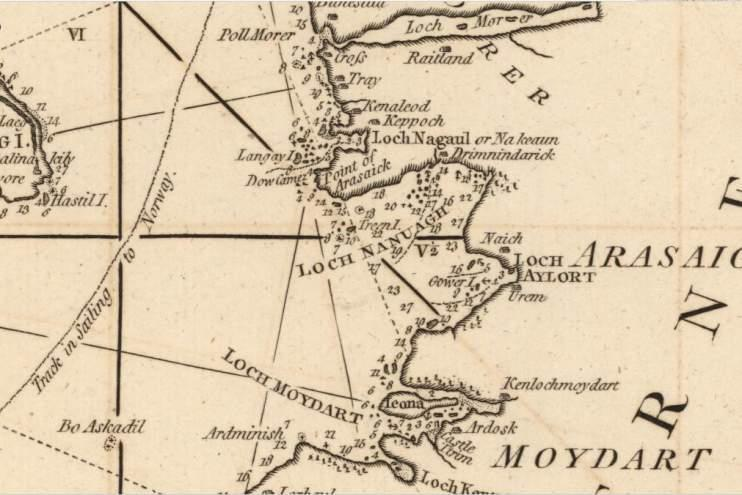 Extract from A new chart of the West coast of Scotland from the point of