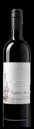 RESERVE CAPTAIN JAMES CABERNET SAUVIGNON 95 92 Blackcurrant and cassis aromas. Slippery tannins big fruit driven palate with barrel complexity and tight focussed finish.