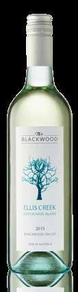 VINTAGE 2015 ELLIS CREEK SAUVIGNON BLANC Lifted aromas of fresh herbs and elderflower blossom. Crisp wine with white peach and lime flavours on the palate.