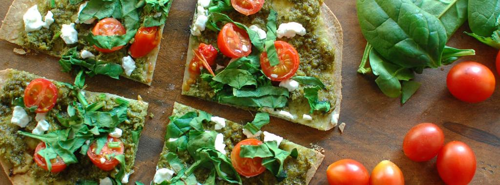 Spinach, Tomato & Goat Cheese Pizza 10 ingredients 20