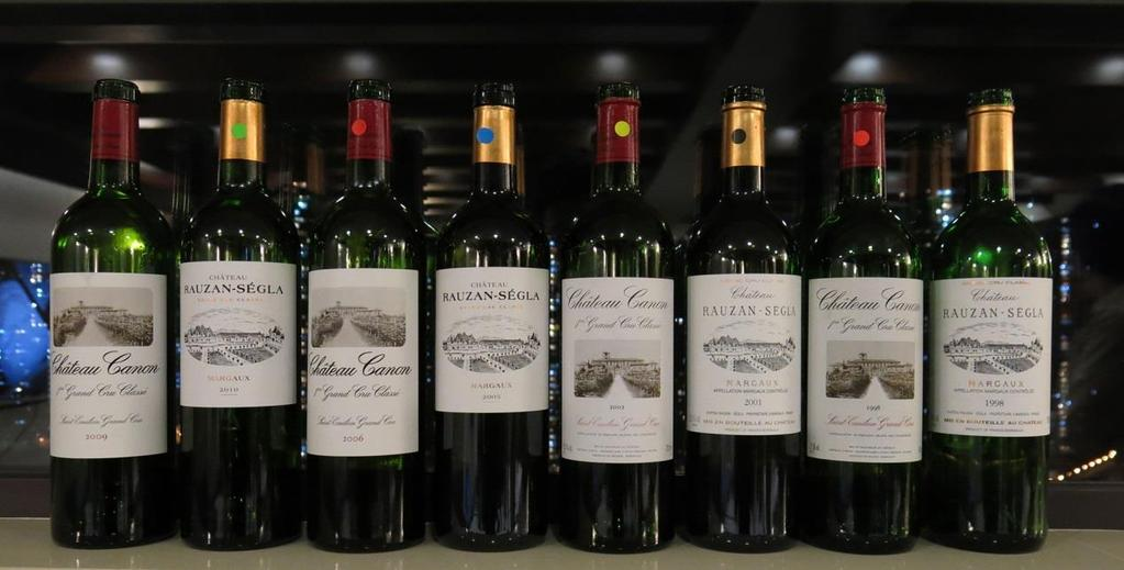 Chateau Rauzan-Segla and Chateau Canon Tasting Date : Tuesday, 1 st March, 2016 Time : 6:00pm to 8:00pm Venue : 21/F Hong Kong Wine Vault (Tin Wan) No.