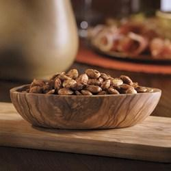 oven to 350 F. Toss almonds with oil, cumin, salt and cayenne pepper in a pie pan.