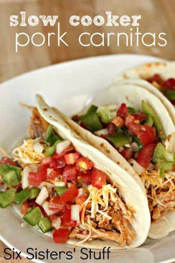 DAY 6 GLUTEN FREE- SLOW COOKER PORK CARNITAS RECIPE M A I N D I S H Serves: 6-8 Prep Time: 10 Minutes Cook Time: 6 Hours 5 Minutes 1 (2-3 pound) pork roast 1 (15 ounce) can enchilada sauce 1 cup